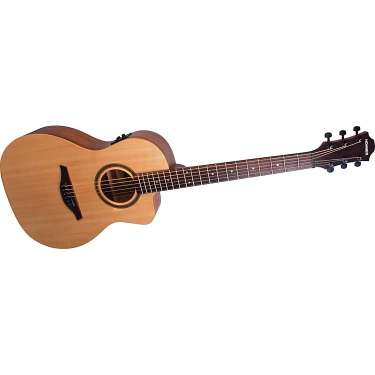 HohnerEssential EL-SPCE PLUS Parlor Cutaway Acoustic-Electric Guitar