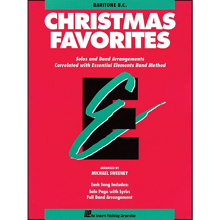 Hal Leonard Essential Elements Christmas Favorites Baritone B.C.