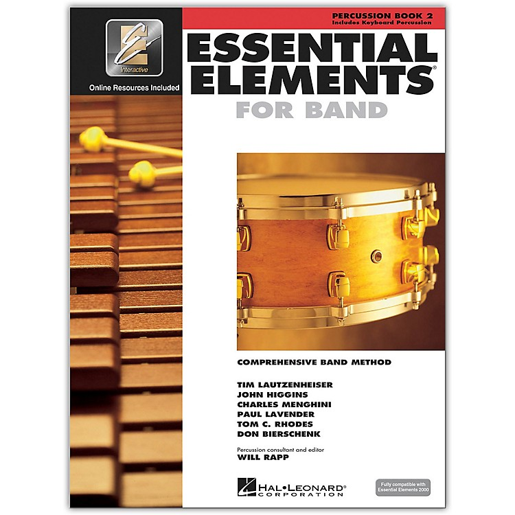 Hal Leonard Essential Elements for Band - Percussion and Keyboard Percussion 2 Book/Online Audio