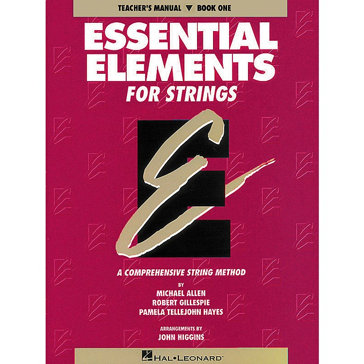 Hal Leonard Essential Elements for Strings Book 1 Teacher's Manual