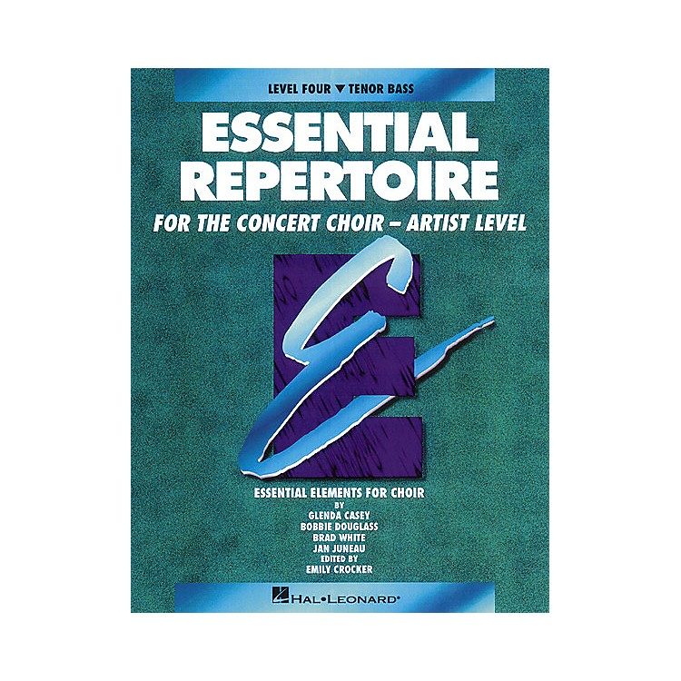 Hal LeonardEssential Repertoire for the Concert Choir - Artist Level Tenor Bass Part-Learning CDs 3 by Glenda Casey