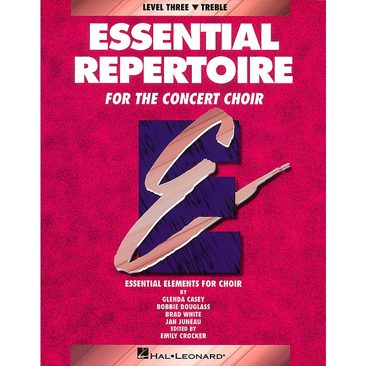 Hal Leonard Essential Repertoire for the Concert Choir Treble Perf/Acc CDs (2) Composed by Glenda Casey