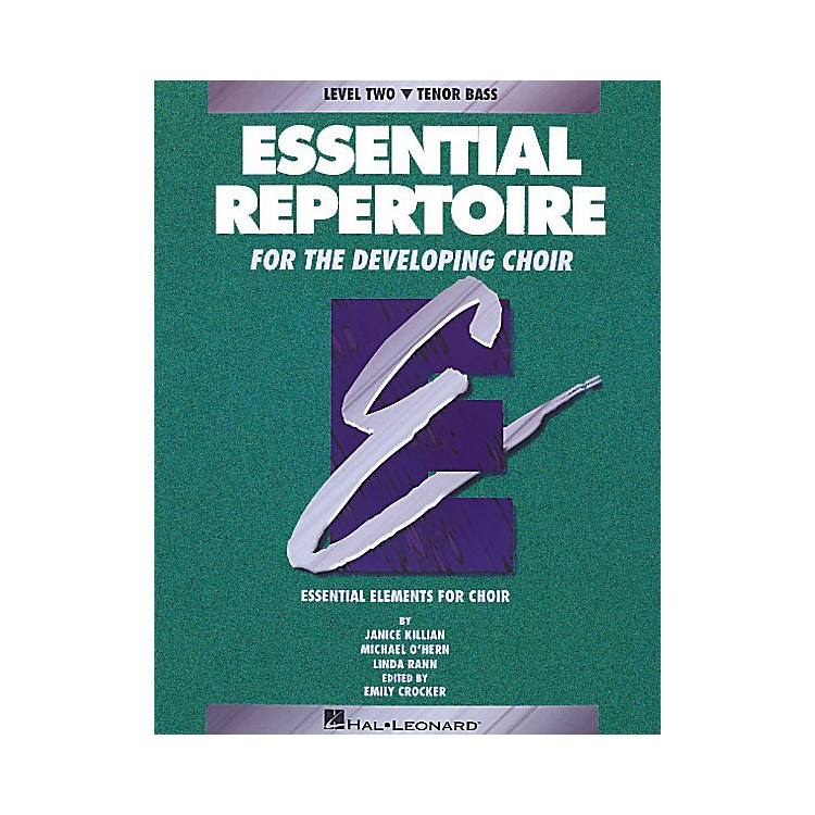 Hal LeonardEssential Repertoire for the Developing Choir Tenor Bass Part-Learning CDs 3 Composed by Janice Killian