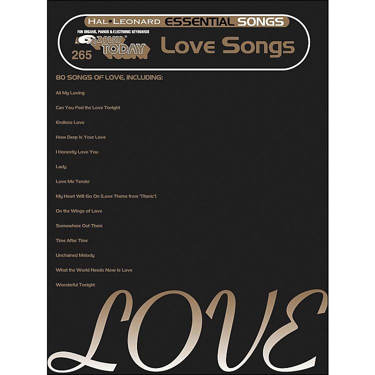 Hal LeonardEssential Songs - Love Songs E-Z Play 265