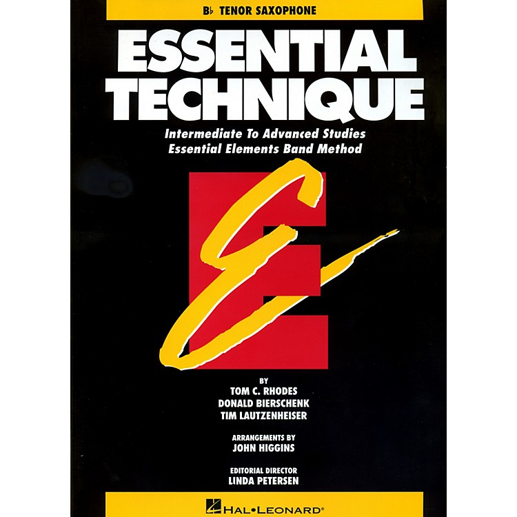 Hal LeonardEssential Technique For B Flat Tenor Saxophone - Intermediate To Advanced Studies