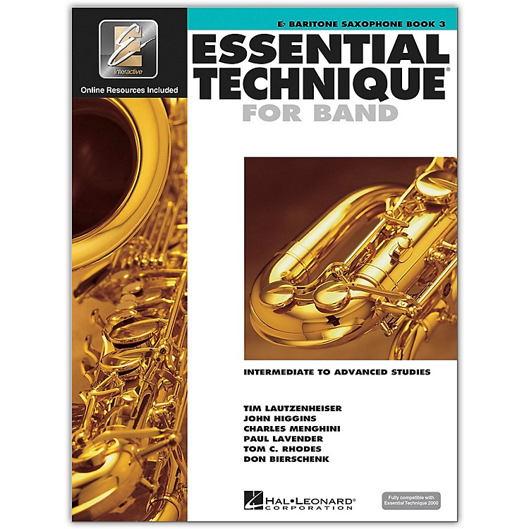 Hal Leonard Essential Technique for Band - Baritone Saxophone 3 Book/Online Audio