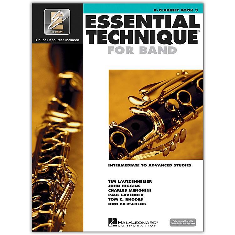 Hal LeonardEssential Technique for Band - Bb Clarinet 3 Book/Online Audio