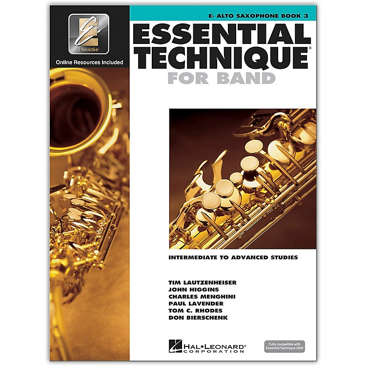 Hal LeonardEssential Technique for Band - Eb Alto Saxophone 3 Book/Online Audio