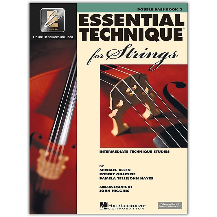 Hal LeonardEssential Technique for Strings - Double Bass 3 Book/Online Audio
