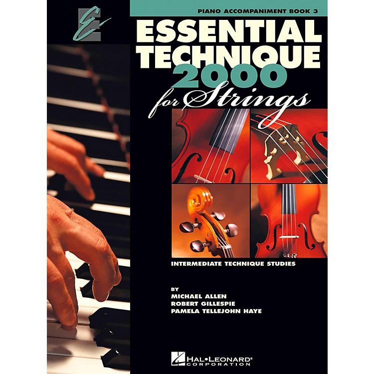 Hal LeonardEssential Technique for Strings - Piano Accompaniment (Book 3)