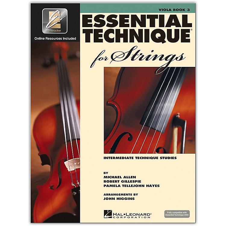 Hal LeonardEssential Technique for Strings - Viola 3 Book/Online Audio