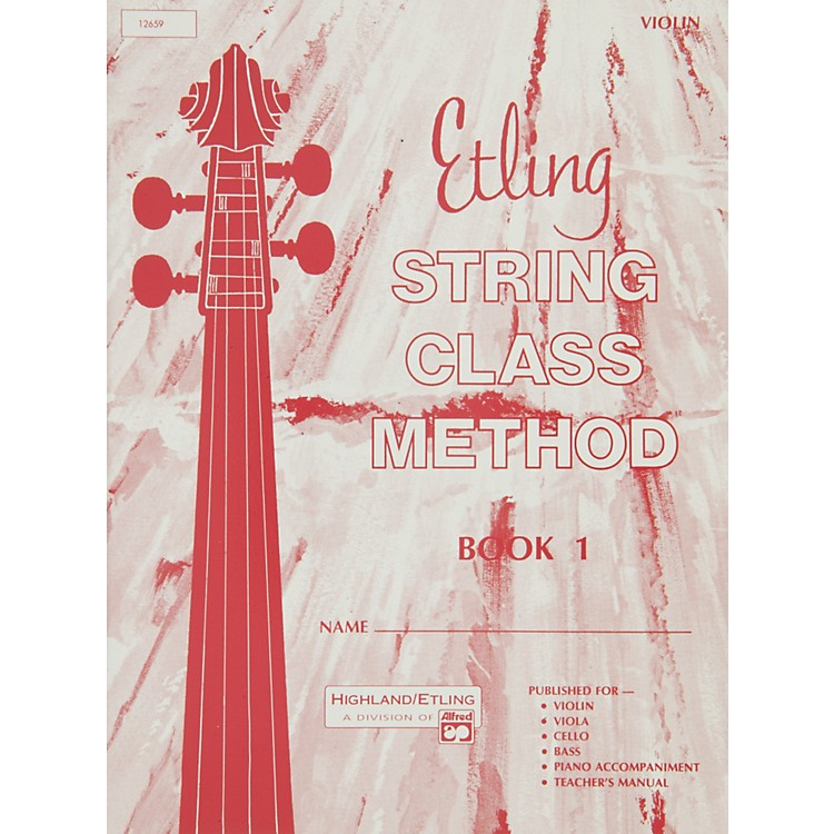 AlfredEtling String Class Method Book 1 Violin