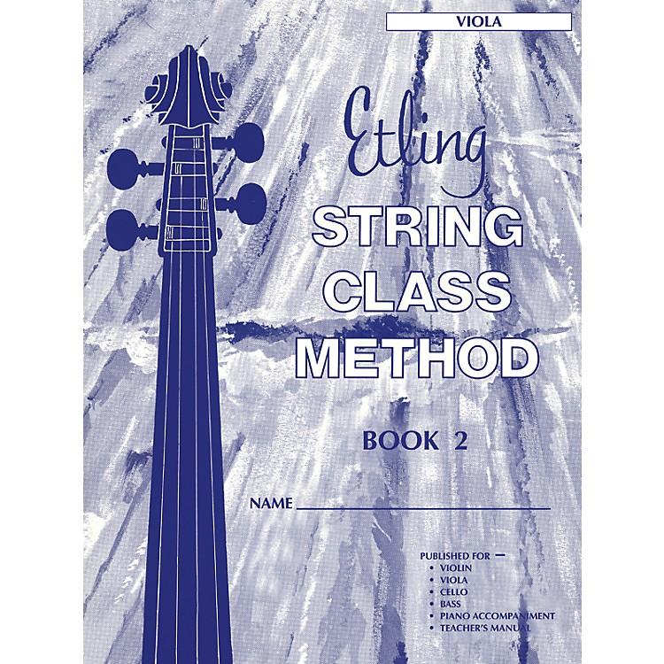 AlfredEtling String Class Method Book 2 Viola