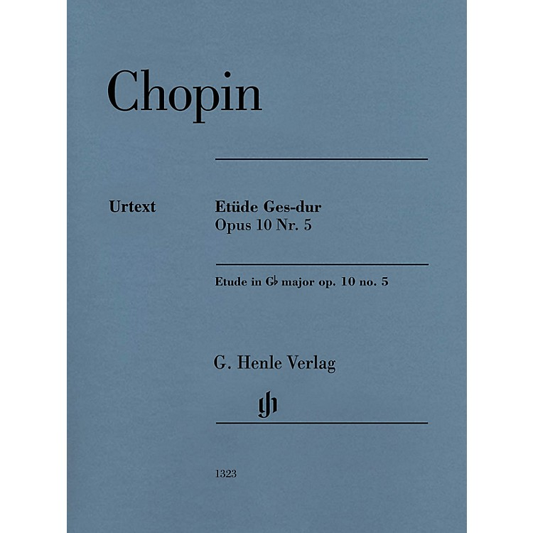 G. Henle VerlagEtude in G-flat Major, Op. 10, No. 5 (Edition with Fingering) Henle Music Folios Series Softcover