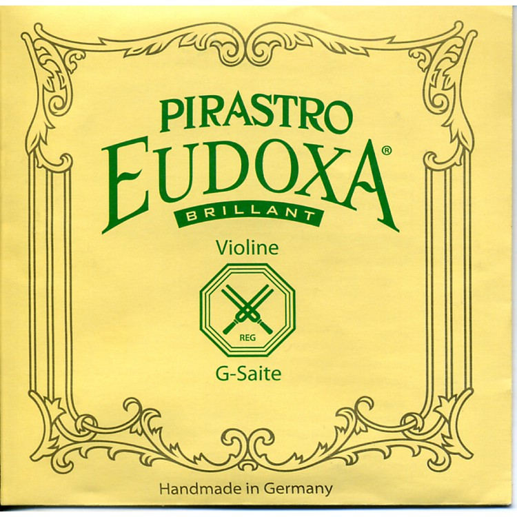 Pirastro Eudoxa Violin Strings G, Silv/Gut, 16 1/4 Gauge 4/4 Size