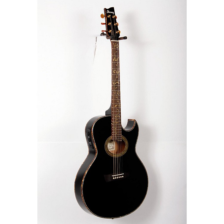 Ibanez Euphoria Steve Vai All Solid Wood Signature Acoustic-Electric Guitar High Gloss Black Pearl 888365803852