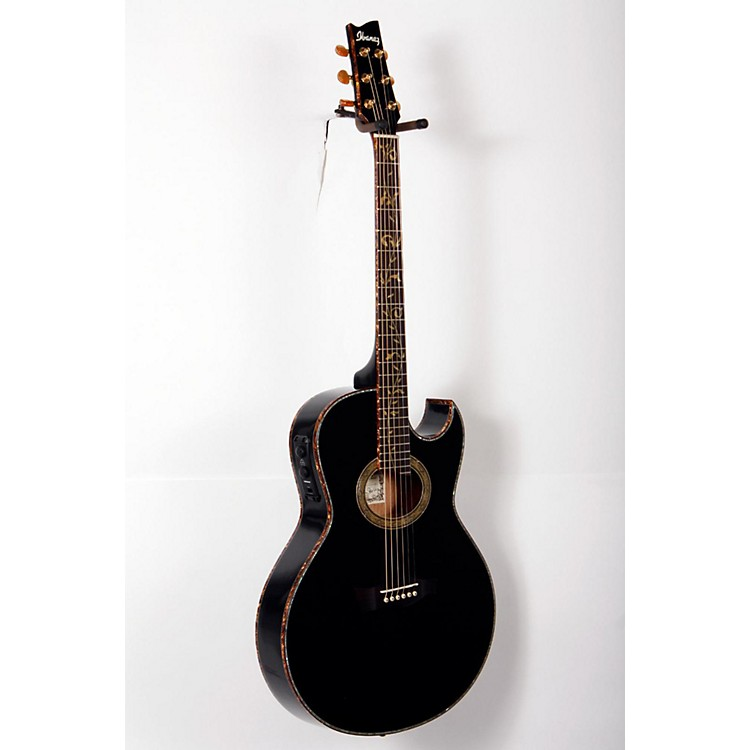 Ibanez Euphoria Steve Vai All Solid Wood Signature Acoustic-Electric Guitar High Gloss Black Pearl 888365804613