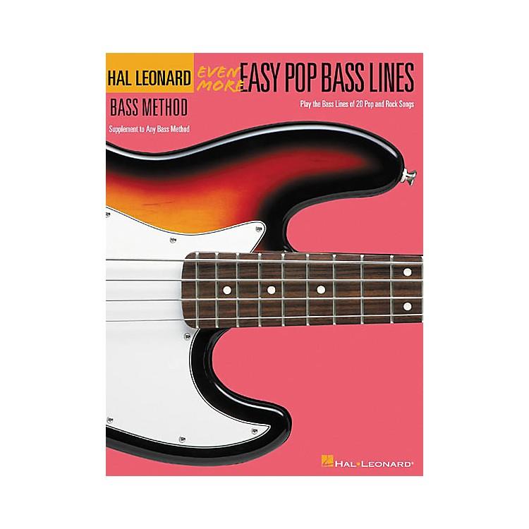 Hal LeonardEven More Easy Pop Bass Lines Book