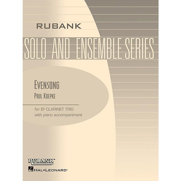 Rubank PublicationsEvensong (Three Bb Clarinets with Piano - Grade 2.5) Rubank Solo/Ensemble Sheet Series