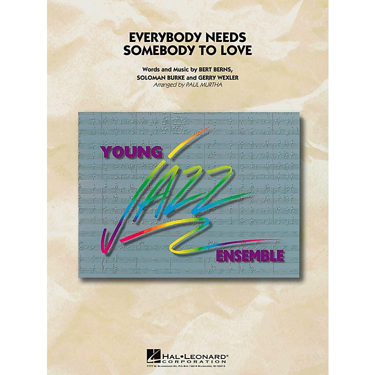 Hal Leonard Everybody Needs Somebody To Love Jazz Band Level 3