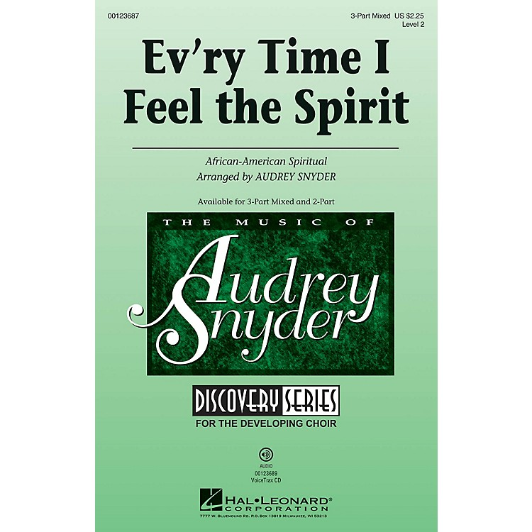 Hal LeonardEv'ry Time I Feel the Spirit (Discovery Level 2) 3-Part Mixed arranged by Audrey Snyder