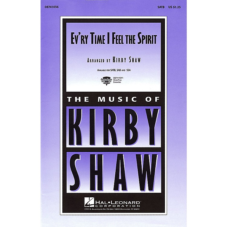 Hal Leonard Ev'ry Time I Feel the Spirit SATB arranged by Kirby Shaw