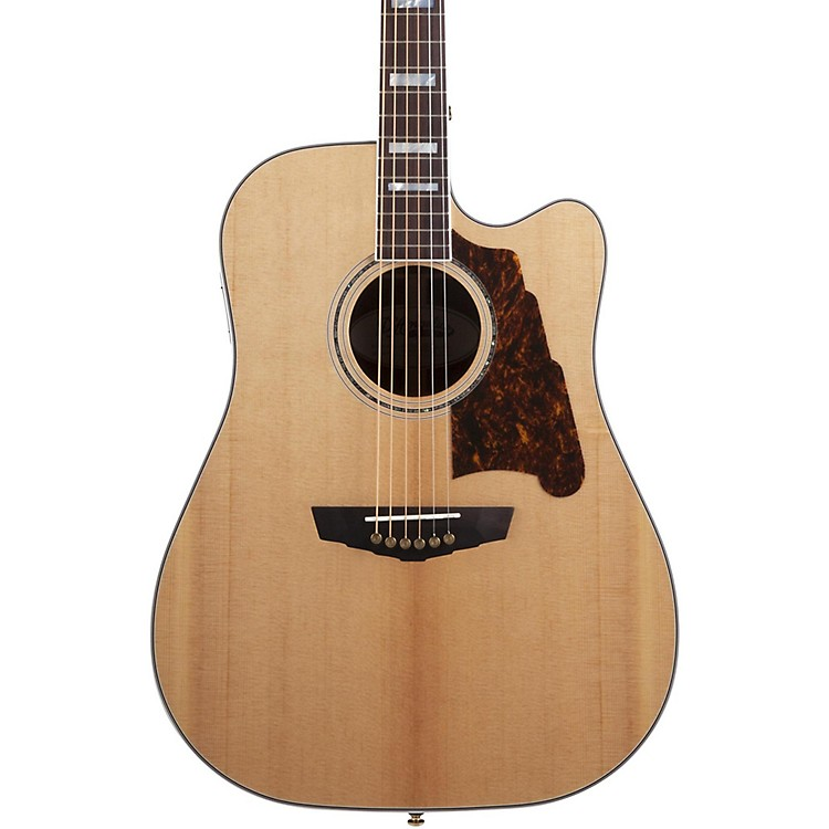 D'Angelico Excel Bowery Acoustic-Electric Guitar Natural