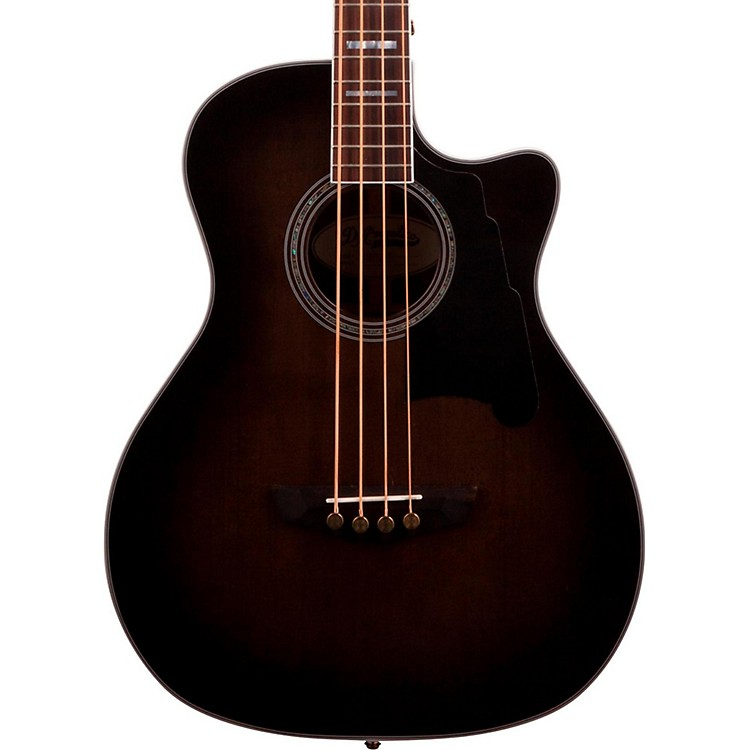 D'Angelico Excel Mott Acoustic Bass Guitar Grey Black