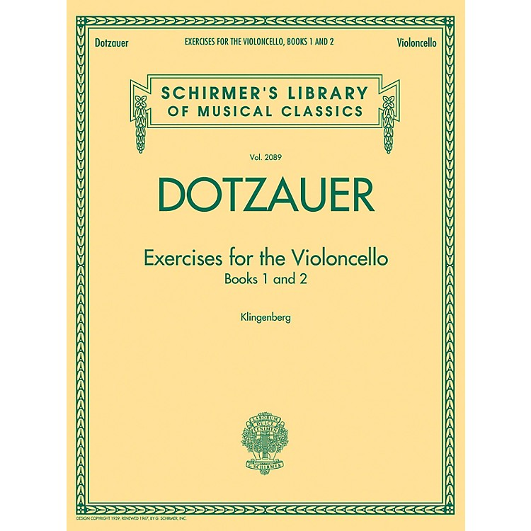 G. SchirmerExercises for the Violoncello - Books 1 and 2 String Series Softcover