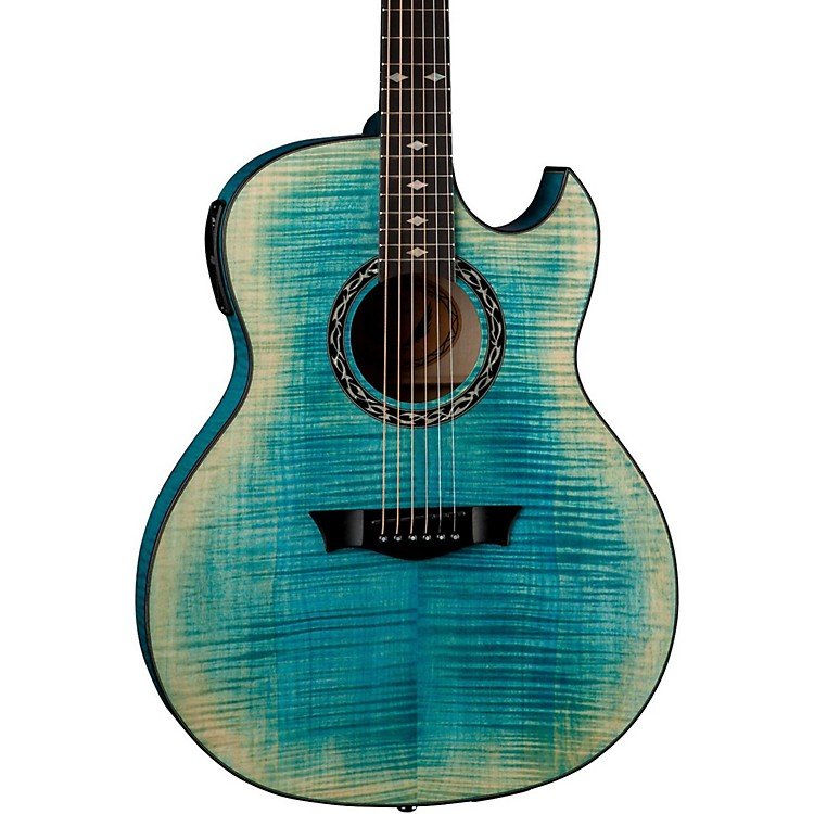 DeanExhibition Flame Maple Acoustic-Electric GuitarFaded Denim