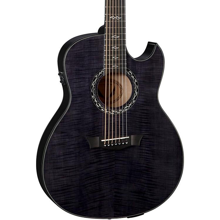 DeanExhibition Ultra 7-String Acoustic-Electric GuitarTransparent Black