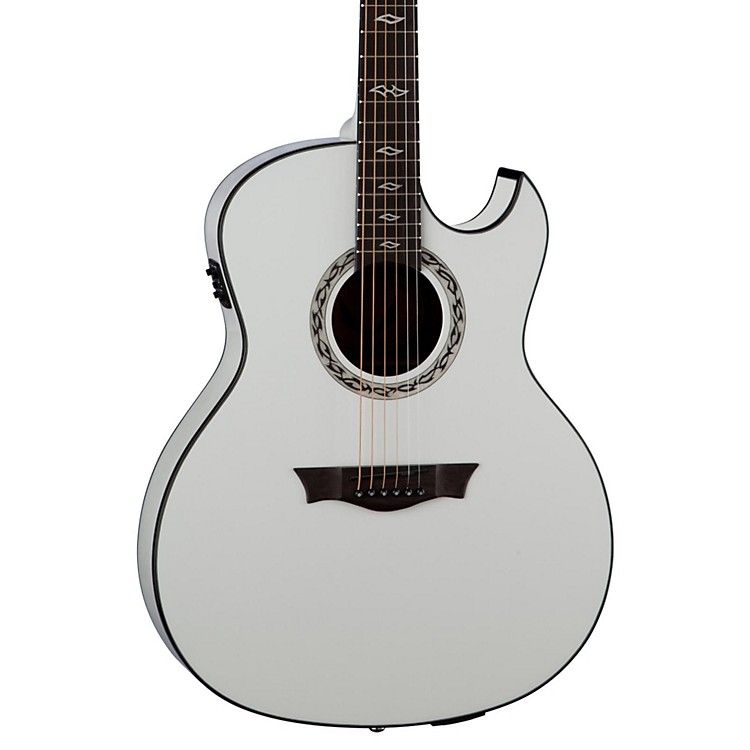DeanExhibition Ultra Acoustic-Electric Guitar with USBClassic White