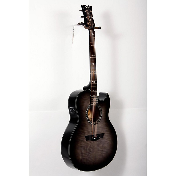 DeanExhibition Ultra Flame Acoustic-Electric GuitarTransparent Charcoal Burst888365765549