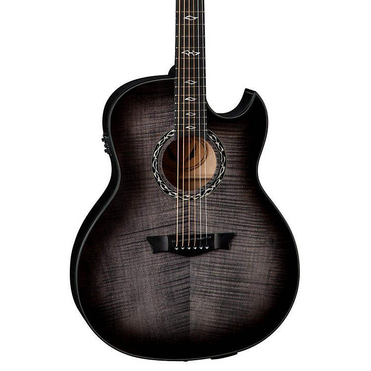 Dean Exhibition Ultra Flame Maple with USB Acoustic-Electric Guitar Charcoal Burst