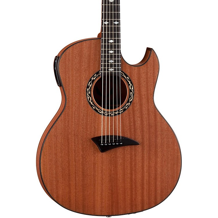 DeanExhibition thin Body Acoustic-Electric Guitar w/AphexSatin Natural