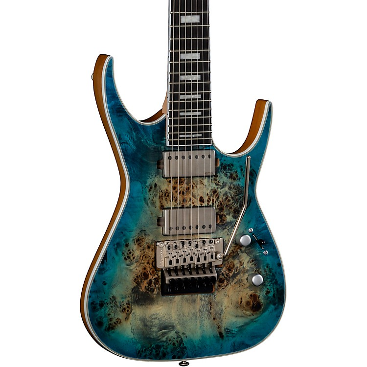 DeanExile Select Burled Poplar with Floyd Seven-String Electric GuitarSatin Turquoise Burst