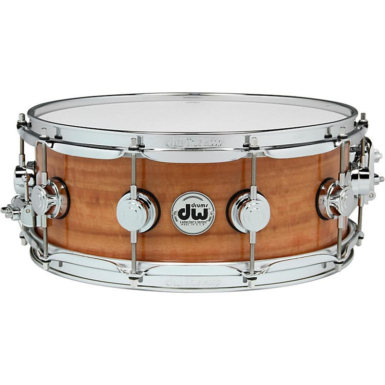 DW Exotic Fiddleback Eucalyptus Lacquer Snare 14 x 5.5 in. Chrome Hardware