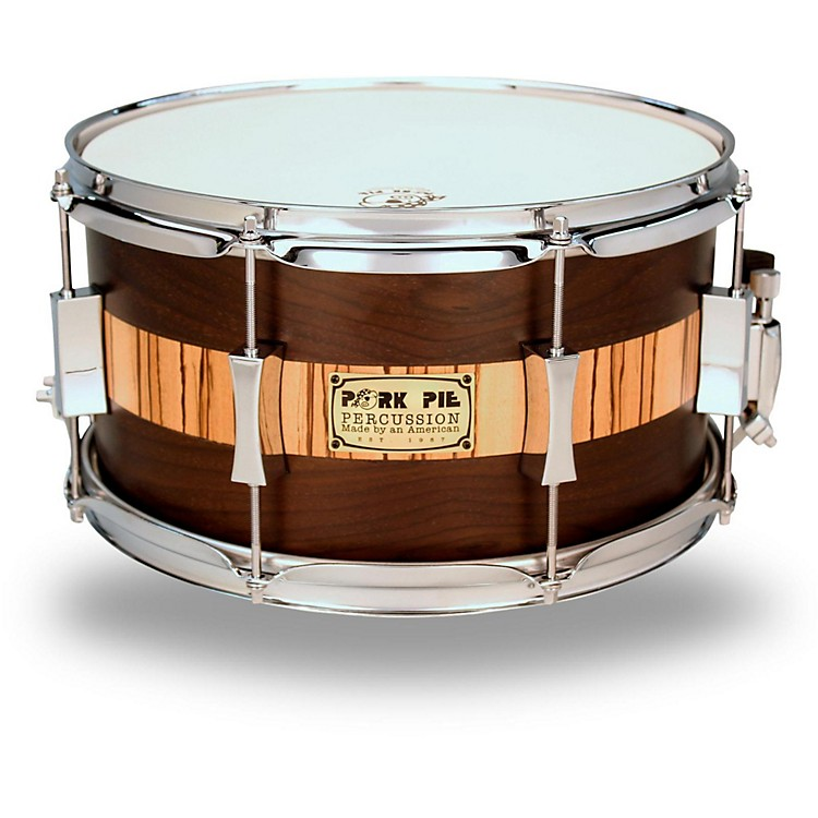 Pork Pie Exotic Rosewood Zebrawood Snare Drum 14 x 6.5 in.
