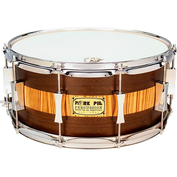 Pork PieExotic Rosewood Zebrawood Snare Drum14 x 6.5 in.