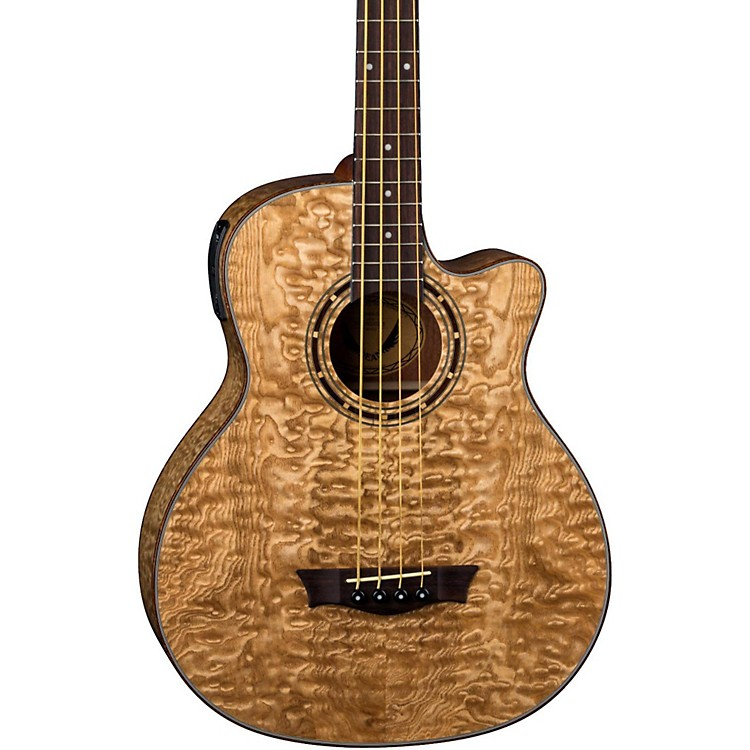 DeanExotica Quilted Ash Acoustic-Electric Bass GuitarGloss Natural