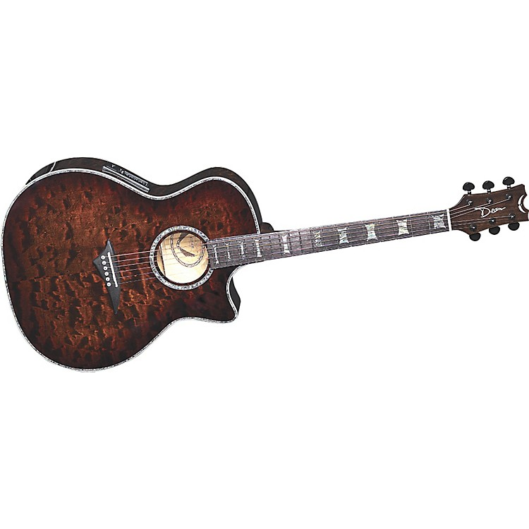 DeanExotica Select Tiger Eye Acoustic-Electric Guitar