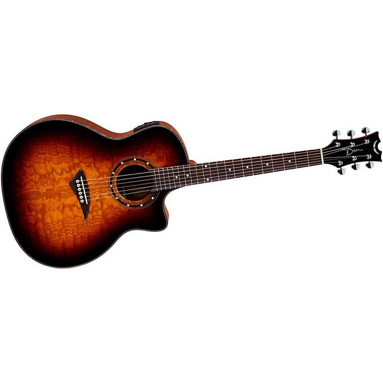 DeanExotica Ultra Quilt Ash Acoustic-Electric GuitarTransparent Brazilia