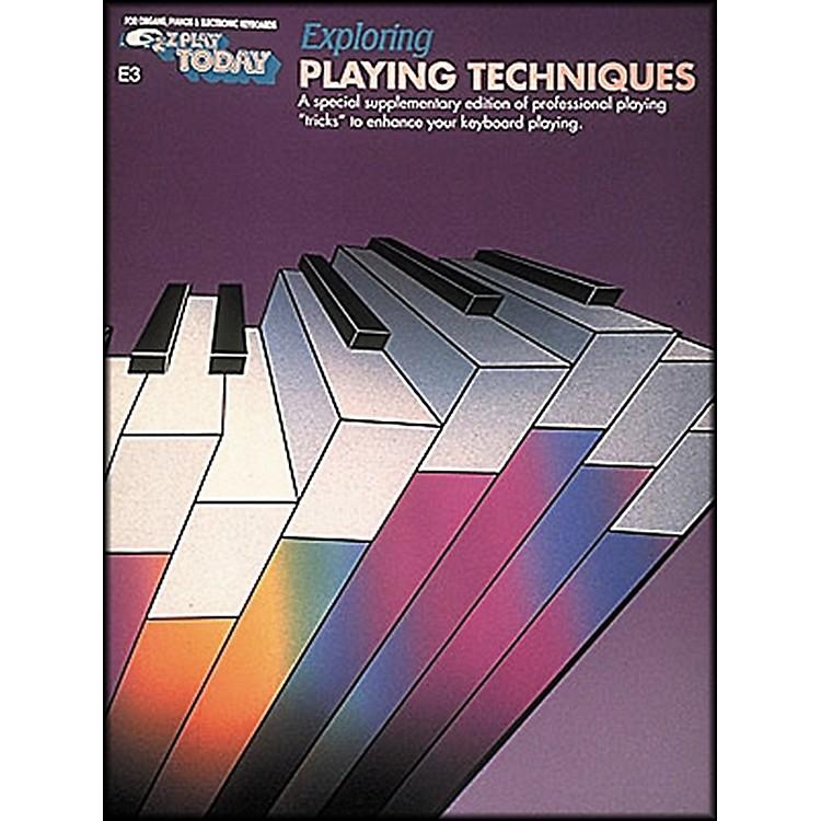 Hal LeonardExploring Playing Techniques E3 E-Z Play