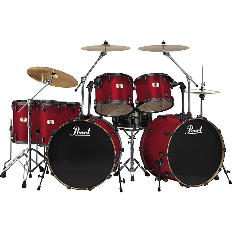 pearl export double bass 7 piece drum set music123. Black Bedroom Furniture Sets. Home Design Ideas