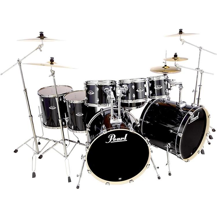 PearlExport Double Bass 8-Piece Drum SetJet Black