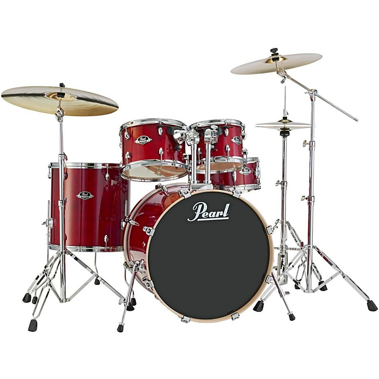 PearlExport EXL New Fusion 5-Piece Drum Set with HardwareBlack Smoke