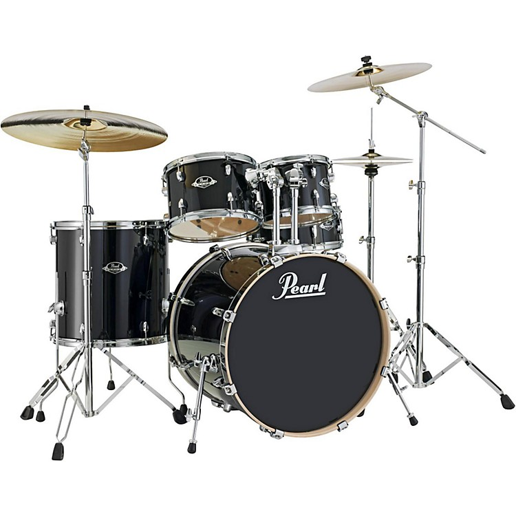 Pearl Export EXL New Fusion 5-Piece Drumset with Hardware Black Smoke