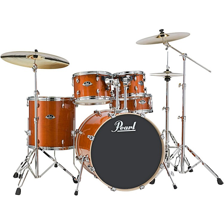 PearlExport EXL New Fusion 5-Piece Drumset with HardwareHoney Amber