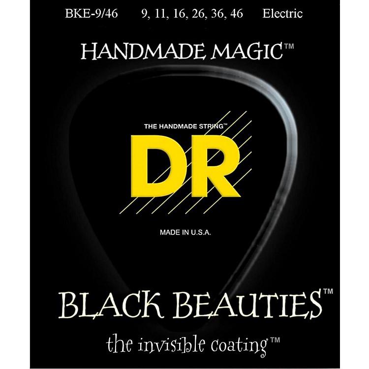 DR StringsExtra Life BKE-9/46 Black Beauties Lite-n-Heavy Coated Electric Guitar Strings