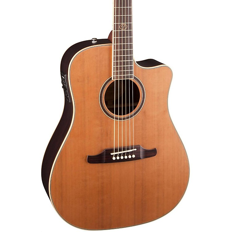 FenderF-1030SCE Cutaway Dreadnought Acoustic-Electric GuitarNatural